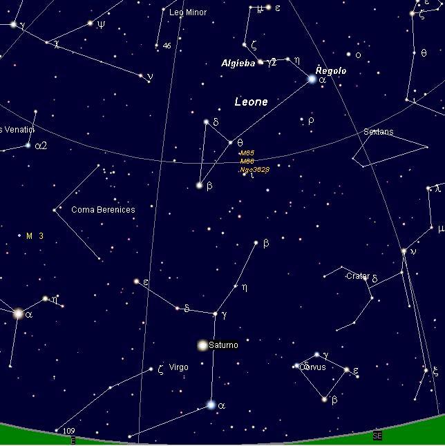 Il cielo del mese – Marzo 2011