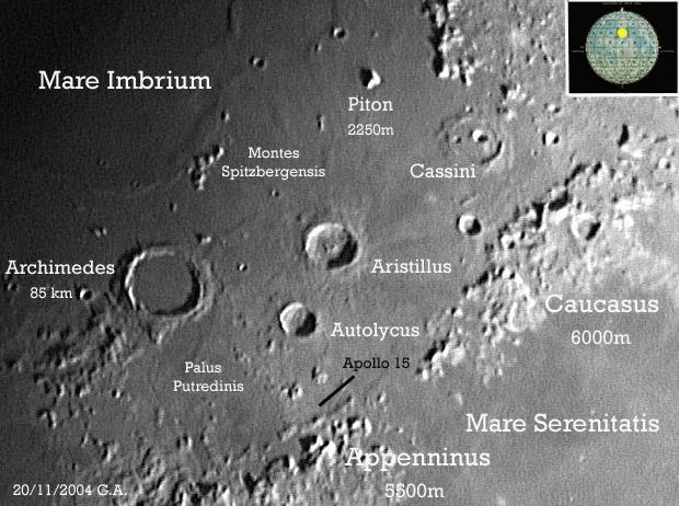 Scheda cratere Archimedes
