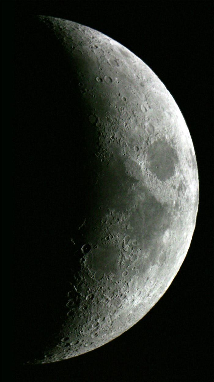 Luna al sesto giorno