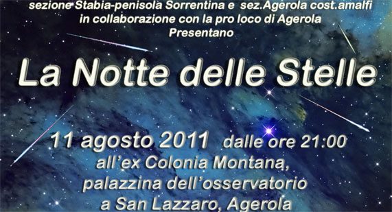 Notte delle Stelle – Agerola 11 Agosto 2011