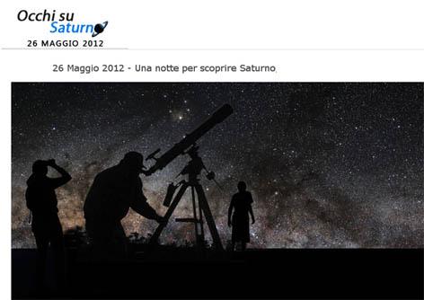 Occhi su Saturno 26 maggio 2012