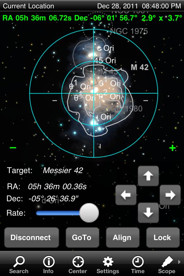 Come pilotare il telescopio con smartphone e tablet