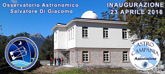 Inaugurazione osservatorio astronomico di AstroCampania