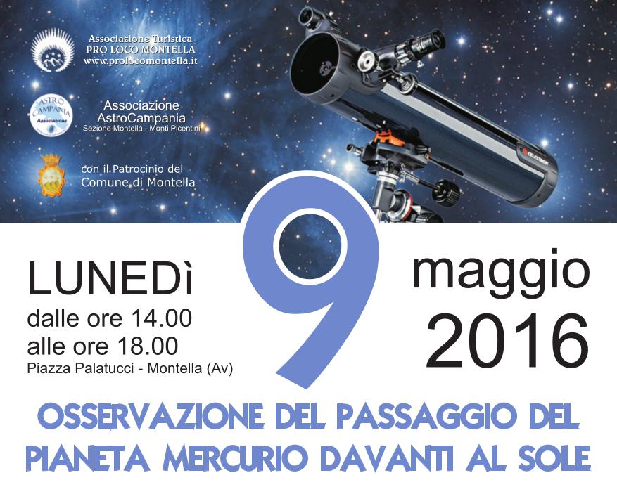 Transito di Mercurio: manifestazione a Montella
