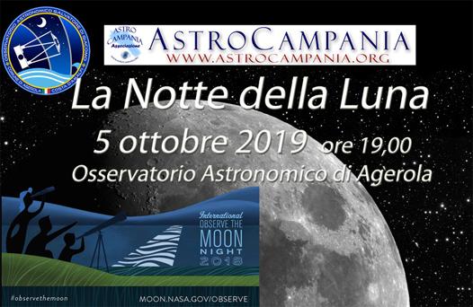 Notte della Luna ad Agerola  – 5 ottobre 2019