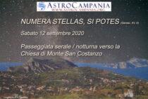 Passeggiata tra le stelle a monte San Costanzo  12/09/2020